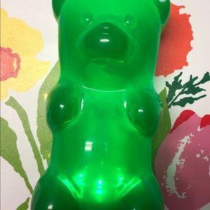 Green light up gummy bear night light